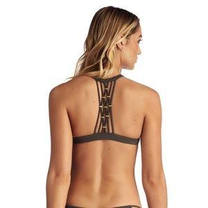 Vitamin A Swim AMBER Beaded High Neck Bikini Top